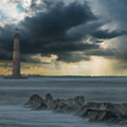 Stormy Morris Island Art Print