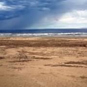 Stormy Nye Beach Art Print