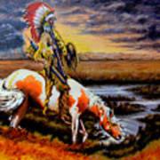 Stormy Prairie Art Print