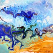 Stormy Seas Abstract #3 Art Print