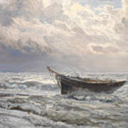 Stormy Seas Print by Henry Moore