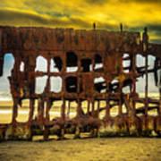 Stormy Shipwreck Art Print