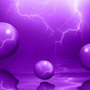 Stormy Skies - Purple Art Print