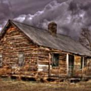 Stormy Times Tenant House Greene County Georgia Art Art Print