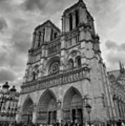 Stormy Views Of Notre-dame Art Print