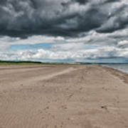 Stormy Weather Over Tentsmuir Beach In Scotland Art Print