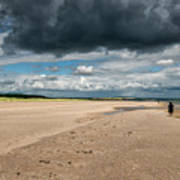 Stormy Weather Over The Beach In Scotland Art Print