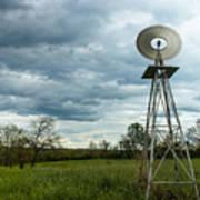 Stormy Windy Windmill Art Print