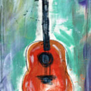 Storyteller's Guitar Art Print