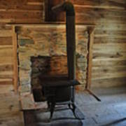 Stove In A Cabin Print by Jeff Moose