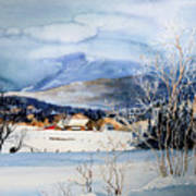 Stowe Valley Farm Art Print