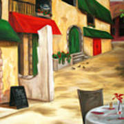 Strada Al Mattino Art Print