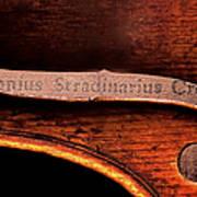 Stradivarius Label Art Print