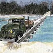 Stranded On Rockford Bridge Art Print