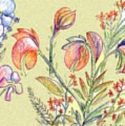 Strange Orchid Drawing Art Print