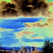 Strange Spokane Storm Art Print