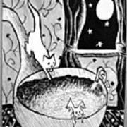 Strangers In Bathtubs Art Print