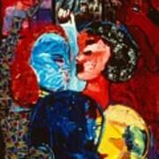 Straphanger Strangers Art Print