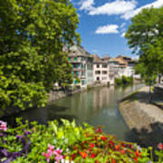 Strasbourg, Half-tmbered Houses, Petite France, Alsace, France Art Print