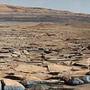 Stratified Rock On Mars Art Print