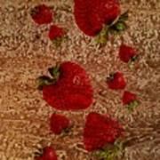 Strawberries And Stone Slab  Art Print
