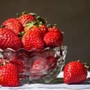Strawberries In The Sun Art Print