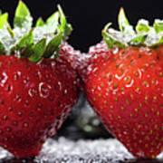 Strawberries Panorama Art Print