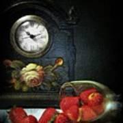 Strawberry Clock Art Print