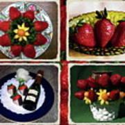 Strawberry Collage Art Print