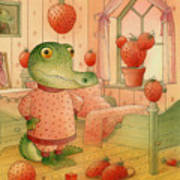 Strawberry Day Art Print