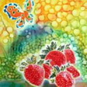 Strawberry Garden Art Print