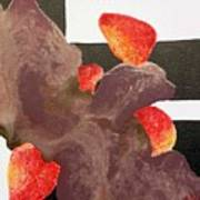 Strawberry In Chocolate Art Print