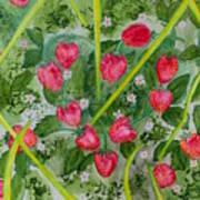 Strawberry Love Patch Art Print