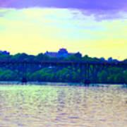 Strawberry Mansion Bridge Across The Schuylkill River Art Print