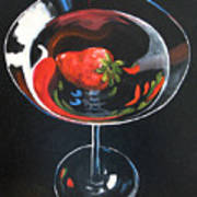 Strawberry Martini Art Print