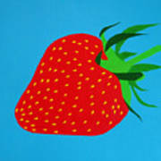 Strawberry Pop Print by Oliver Johnston