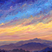 Streaking Sky Over Cold Mountain Art Print