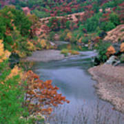 Stream And Fall Color In Central California Art Print