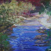 Stream At Yosemite Art Print