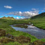 Stream South Iceland Art Print