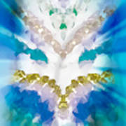Streams Of Light In Turquoise Art Print