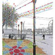 Street And Colors. Nizhny Novgorod, Sormovo. 3 May, 2015 Art Print