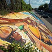 Street Art At Washington D.c. - Cultivating The Rebirth 3 Art Print