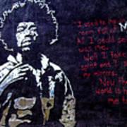 Street Art - Jimmy Hendrix Art Print