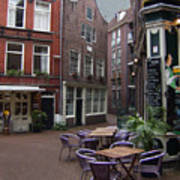 Street Cafe Mooy In Amsterdam Art Print