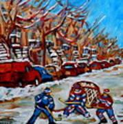 Street Hockey Hotel De Ville Art Print