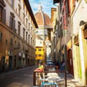 Street In Florence Art Print
