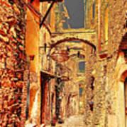Street In Old Town. Art Print