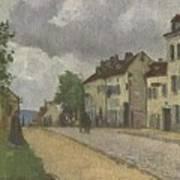 Street In Pontoise Strabe In Pontoise Camille Pissarro Art Print