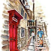 Street In Robin Hoods Bay 01 Art Print